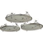 Birds On A Limb Collection Mirrored Trays, (Set of 3) 19710