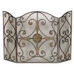 Jerrica Collection Metal Fireplace Screen 20536