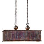 "Albiano Collection 2-Light 28"" Oxidized Bronze Island Light 21922"