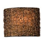 "Knotted Rattan Collection 1-Light 9"" Expresso Wall Sconce 22466"