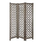 Quatrefoil Collection Burnished Floor Screen 24181