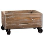 Stratford Collection Reclaimed Wood Rolling Box 24247