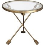 Aero Collection Glass Top Accent Table 24275