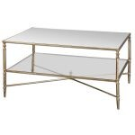 Henzler Collection Mirrored Glass Coffee Table 24276