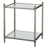 Gannon Collection Mirrored Glass End Table 24282