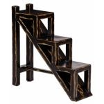 Asher Black Collection Stepped Accent Table 25523