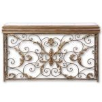 Valonia Collection Embossed Metal Console Table 26104