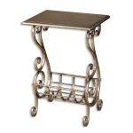 Lilah Collection Silver Leaf Magazine Table 26117