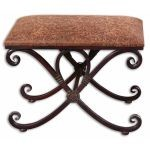 Manoj Collection Distressed Small Bench 26122