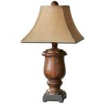 "Kezia Collection 1-Light 33"" Wood Table Lamp 26538"