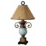 "Wayland Collection 1-Light 33"" Crackled Blue Lamp 26756"