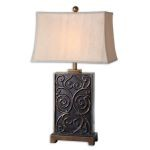 "Lavinta Collection 1-Light 33"" Dark Bronze Table Lamp 26797"