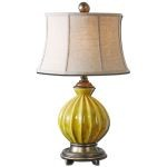 "Pratella Collection 1-Light 29"" Burnt Yellow Table Lamp 27491"