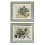 Blue Lotus Flower Collection Art (Set of 2) 41325