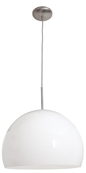 "Acrolite Collection 18"" 1-Light Bronze Pendant with White Acrylic Glass 23760-2R-BS/AWH"