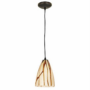 "Sydney Safari Collection 7"" 1-Light Oil Rubbed Bronze Pendant with Lava Glass 28025-1C-ORB/LAV"