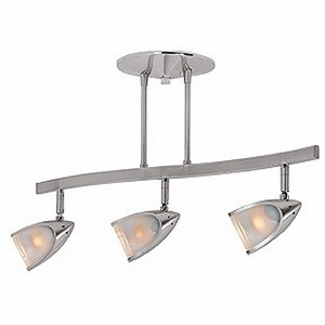 Comet Collection 3-Light Brushed Steel Semi-Flush with Opal Glass 52030-BS/OPL