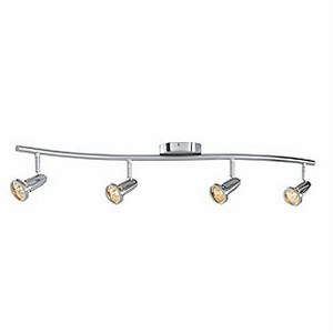 "Cobra Collection 5"" 4-Light Brushed Steel Spotlight Bar 52204-BS"