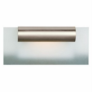 "Roto Collection 12"" 1-Light Satin Chrome Vanity with Frosted Glass 62061-SC/FST"