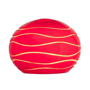 "Sphere Collection 5"" Red Lined Etched Glass Shade 979WJ-REDLN"
