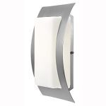 "Eclipse Collection 14"" 1-Light Satin Outdoor Wall Fixture with Opal Glass 20449-SAT/OPL"