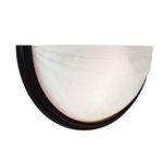 "Crest Collection 6"" 2-Light Oil Rubbed Bronze Wall Sconce with Alabaster Glass 20635-ORB/ALB"