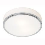 "Aero Collection 10"" 1-Light Chrome Flush Mount with Opal Glass 20670-CH/OPL"