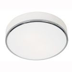 "Aero Collection 12"" 2-Light Chrome Flush Mount with Opal Glass 20671-CH/OPL"