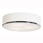 "Aero Collection 15"" 3-Light Chrome Flush Mount with Opal Glass 20672-CH/OPL"