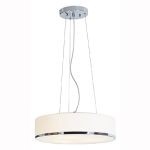 "Aero Collection 15"" 3-Light Chrome Pendant with Opal Glass 20673-CH/OPL"