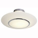 "Aero Collection 16"" 1-Light Chrome Flush Mount with Opal Glass 20674-CH/OPL"