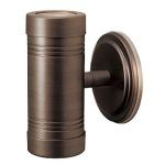 "Myra Collection 6"" 2-Light Bronze Outdoor Wallwasher with Clear Glass 23026MG-BRZ/CLR"