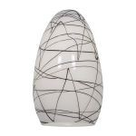 "Inari Silk Collection 5"" Black Line Glass Shade 23112-BLWH"