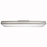 "Ark Collection 8"" 2-Light Brushed Steel Flush Mount with Frosted Glass 31026-BS/FST"