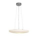 "Orion Collection 18"" 3-Light Brushed Steel Pendant with Opal Glass 50163-BS/OPL"