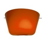 "Aire Collection 6"" 1-Light Brushed Steel Silk Glass Wall Scone with Orange Glass 50166-CH/ORG"