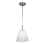 "Aire Collection 8"" 1-Light Brushed Steel Pendant with Opal Glass 50169-BS/OPL"