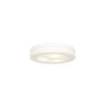 "Altum Collection 10"" 1-Light White Flush Mount with Opal Glass 50186-WH/OPL"