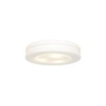 "Altum Collection 12"" 2-Light White Flush Mount with Opal Glass 50187-WH/OPL"