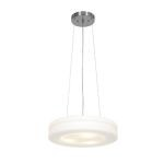 "Altum Collection 15"" 3-Light Brushed Steel Pendant with Opal Glass 50190-BS/OPL"