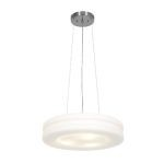 "Altum Collection 19"" 3-Light Brushed Steel Pendant with Opal Glass 50191-BS/OPL"
