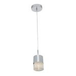 "Kristal Collection 3"" 1-Light Chrome Pendant with Clear Crystal Glass 51016-CH/CRY"
