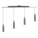 "Odyssey Collection 2"" 4-Light Brushed Steel Pendant 52004-BS"