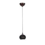 "Alpha Collection 5"" 1-Light Bronze Pendant with Black Lined Glass 90979-BRZ/BLKLN"