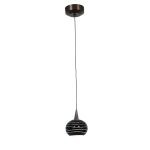 "Alpha Collection 5"" 1-Light Bronze Pendant with Black Lined Glass 94979-BRZ/BLKLN"