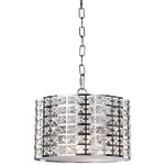 "Coventry Collection 2-Light 12"" Chrome Circular Pendant with Crystal Jewels AC192"