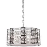 "Coventry Collection 3-Light 14"" Chrome Circular Pendant with Crystal Jewels AC193"