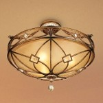 "Aston Court Collection 3-Light 24"" Bronze Semi-Flush Mount with Avorio Mezzo Glass 6757-206"
