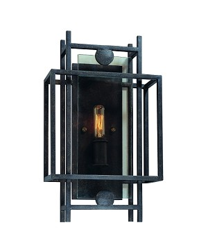 "Crosby Collection 1-Light 9"" French Iron Wall Sconce B2491FI"