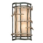 "Adirondack Collection 1-Light 8"" Graphite And Silver Wall Sconce BF2882"